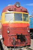 Trem elétrico vermelho Imagens de Stock Royalty Free