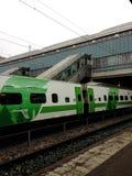 Trem em Helsínquia fora do curso do finlad Imagens de Stock
