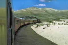 Trem em Peru fotografia de stock royalty free