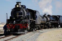 Trem em Swakopmund, Namíbia do vapor Fotografia de Stock