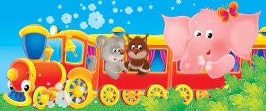 Trem engraçado Foto de Stock