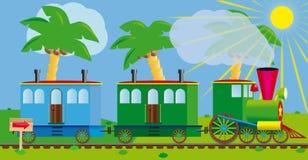 Trem engraçado para seu projeto de projeto. Fotos de Stock