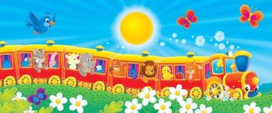 Trem engraçado Fotografia de Stock Royalty Free