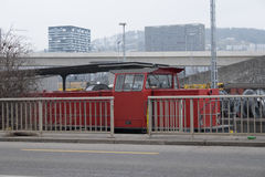Trem estacionado Imagens de Stock Royalty Free