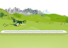 Trem expresso Fotos de Stock