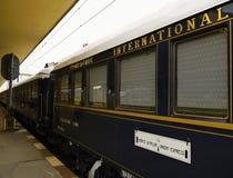 Trem expresso legendário de oriente, cidade inter fotos de stock