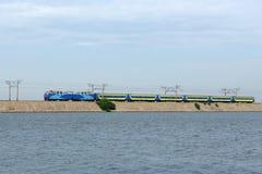 Trem expresso oriental, Ucrânia oriental fotos de stock