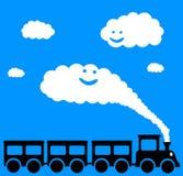 Trem feliz Imagens de Stock
