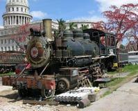 Trem Havana do vapor do vintage, Cuba Fotos de Stock Royalty Free