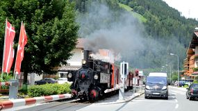 Trem histórico em Zell am Ziller Imagem de Stock Royalty Free