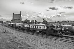 Trem Hoorn do vapor Fotografia de Stock Royalty Free