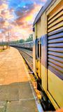 Trem indiano imagens de stock
