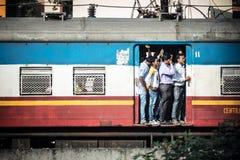 Trem indiano aglomerado foto de stock royalty free