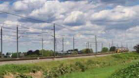 Trem interurbano do doubledecker das estradas de ferro holandesas filme