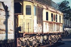 Trem locomotivo do motor de vapor do vintage fotos de stock