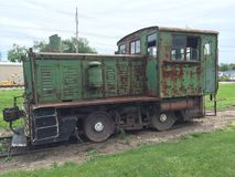 Trem locomotivo velho Fotos de Stock