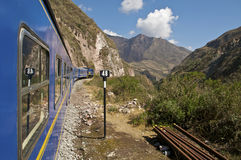 Trem a Machu Picchu Imagens de Stock