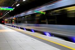 Trem movente Fotografia de Stock
