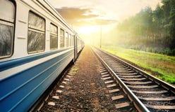Trem movente Fotos de Stock