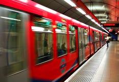 Trem movente rápido Imagens de Stock