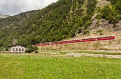 Trem mundialmente famoso do suíço Foto de Stock