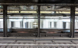 Trem na avenida do stationAtlantc do metro em New York Imagens de Stock Royalty Free