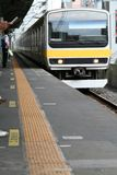 Trem na estação Imagens de Stock