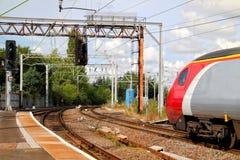 Trem na estação Imagem de Stock Royalty Free