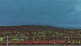 Trem na estação foto de stock