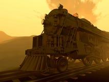 Trem na névoa Fotografia de Stock Royalty Free