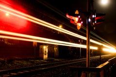 Trem na noite Imagem de Stock Royalty Free