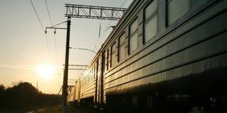 Trem na trilha railway Imagem de Stock Royalty Free