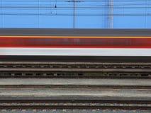 Trem na velocidade Imagem de Stock