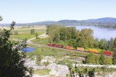 Trem nacional canadense Imagem de Stock Royalty Free