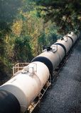 Trem nas madeiras Fotos de Stock