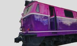 Trem no fundo branco isolado imagens de stock