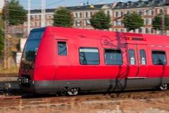 Trem no movimento Fotografia de Stock
