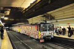 Trem no movimento, Italy foto de stock royalty free