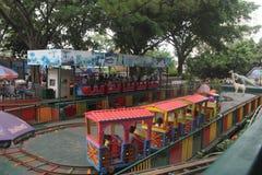 Trem pequeno de Thomas no parque de diversões de Shenzhen Fotos de Stock Royalty Free