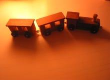 Trem pequeno do brinquedo Fotografia de Stock