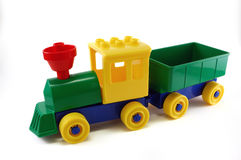 Trem plástico do brinquedo Imagem de Stock