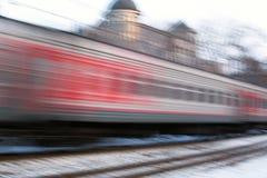 Trem rápido Fotografia de Stock