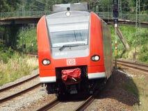 Trem regional entrante Imagens de Stock Royalty Free