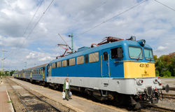 Trem regional húngaro Fotografia de Stock Royalty Free
