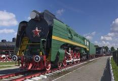 Trem retro velho do vapor Fotografia de Stock