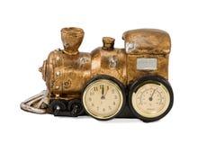 Trem retro velho do vapor da lembrança Imagens de Stock Royalty Free