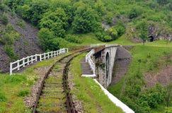 Trem Rridge Railway em Romênia Fotografia de Stock