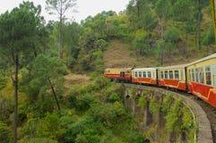 Trem Shimla do brinquedo foto de stock royalty free