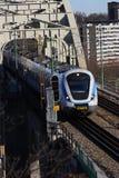 Trem suburbano   imagem de stock