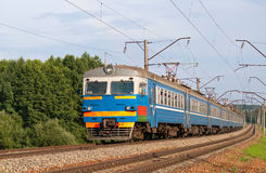 Trem suburbano em Belarus Imagens de Stock